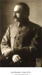 Plakat A3 - Józef Piłsudski  Wilno 1919 R. Gplakjp03