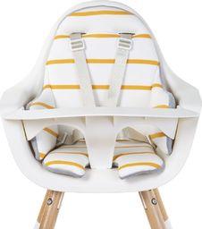 Childhome Childhome Dwustronny ochraniacz do krzesełka Evolu 2 Jersey Grey/Ochre Stripes