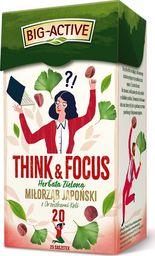 Big Active Herbata Think & Focus zielona z miłorzębem japońskim 20 torebek - 4szt.