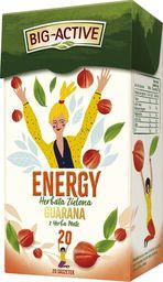 Big Active Herbata zielona Energy guarana z Yerba Mate 20 torebek - 4 szt.