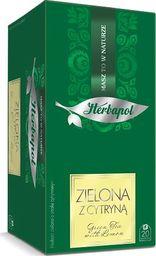 HERBAPOL Herbapol Herbata Breakfast kopertowana - Zielona z cytryną 20 torebek - 4 szt.
