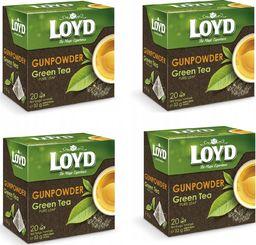 LOYD Herbata LOYD Green zielona Gunpowder 80 torebek piramidki
