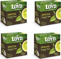 LOYD Herbata LOYD Green zielona Sencha 80 torebek piramidki