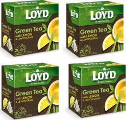 LOYD Herbata LOYD Green Tea Lemon 80 torebek piramidki