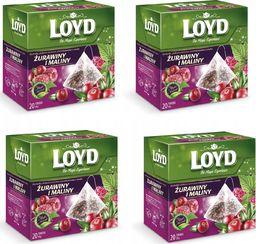 LOYD LOYD Herbata Żurawina z maliną 80 torebek piramidki