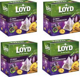 LOYD LOYD Herbata Śliwka z Cynamonem 80 torebek piramidki