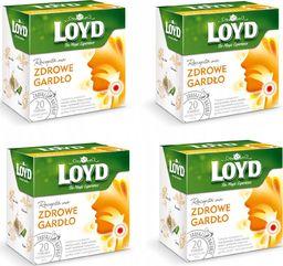 LOYD LOYD Herbata Zdrowe gardło 80 torebek piramidki