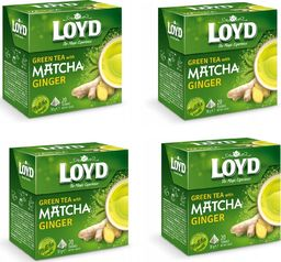 LOYD Herbata LOYD Matcha Ginger (z imbirem) 80 torebek piramidki