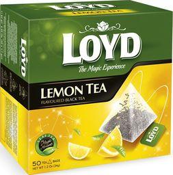 LOYD Herbata LOYD Lemon Black piramidki - 50 torebek