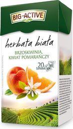 Big Active Herbata Big - Active biała z brzoskwinią i kwiatem pomarańczy 20 torebek - 4szt.