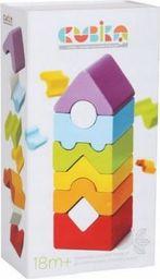 Cubika Klocki drewniane Kolorowa wieża wieżyczka 18m+ CUBIKA