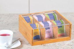 Kesper Kesper, Pudełko na 6 rodzajów herbat z drewna bambusowego z akrylowym wieczkiem. 50903