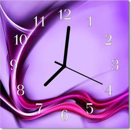 Tulup Zegar szklany kwadratowy Abstrakcja 30x30 cm -46612495