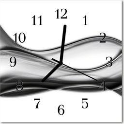 Tulup Zegar szklany kwadratowy Abstrakcja 30x30 cm -46896755