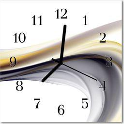 Tulup Zegar szklany kwadratowy Abstrakcja 30x30 cm -46977169
