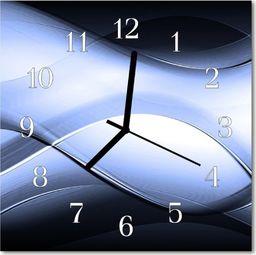 Tulup Zegar szklany kwadratowy Abstrakcja 30x30 cm -47197782