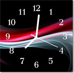 Tulup Zegar szklany kwadratowy Abstrakcja 30x30 cm -47236303