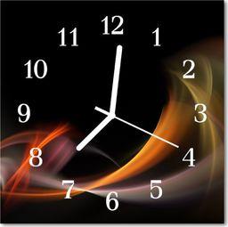Tulup Zegar szklany kwadratowy Abstrakcja 30x30 cm -48326032