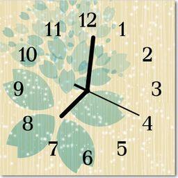 Tulup Zegar szklany kwadratowy Abstrakcja 30x30 cm -49070611