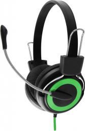 Słuchawki z mikrofonem Esperanza EH152G Czarno-zielone