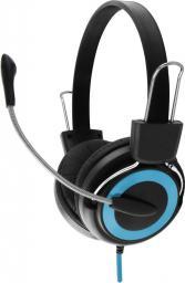 Słuchawki z mikrofonem Esperanza EH152B Czarno-niebieskie