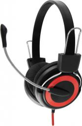 Słuchawki z mikrofonem Esperanza EH152R Czarno-czerwone