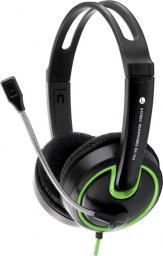 Słuchawki z mikrofonem Esperanza EH153G Czarno-zielone