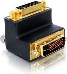 Adapter AV Delock DVI-I(M) 29pin ->DVI-I(F) 29pin kątowy (65173)