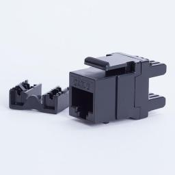 DigitalBOX START.LAN moduł Keystone Jack UTP cat. 6 (1xRJ-45) 8P8C 180° Czarny (STLKJUC6180BK)