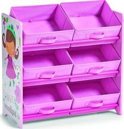 "Zeller Zeller, Szafka z półkami i pudełkami ""Girly"", kol. różowy"