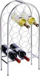 Zeller Zeller, Metalowy regał na wino, 16.5x33.5x62cm