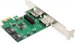 Kontroler InLine PCIe x1 na 2 x SATA 6G / 2x eSATA 6G (76696B)