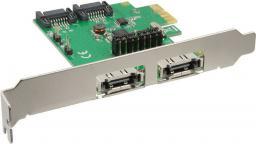 Kontroler InLine PCIe 2.0 x1 - 2x SATA III + 2x eSATA (76696B)