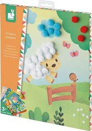Janod Zestaw kreatywny Pompony na łonie natury 3+ Janod