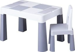 Tega Komplet MultiFun krzesełko + stolik szary Tega