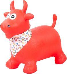 Sun Baby Skoczek byczek gumowy - czerwony z chustą Sun Baby