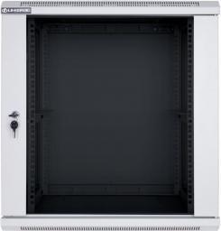 Szafa Linkbasic wisząca rack 19'' 15U 600x600mm szara drzwi przednie szklane (WCB15-66-BAB-C)