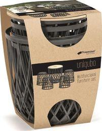 Prosperplast Zestaw meblowy UNIQUBO SET5 - antracytowy