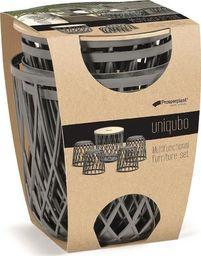 Prosperplast Zestaw mebli ogrodowych Uniqubo Set 5  szary kamienny