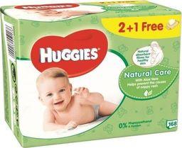 Huggies Huggies Wipes NATURAL CARE 2+1 (56x3) chusteczki nawilżane