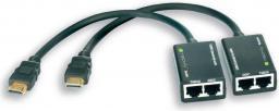 System przekazu sygnału AV Techly HDMI - RJ45 x2 0.15m czarny (301153)