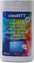 NTT chusteczki czyszczące , nawilżone, do ekranów LCD/TFT/LED/PLASMA, mała tuba 100 szt (NTT - CLN0041)