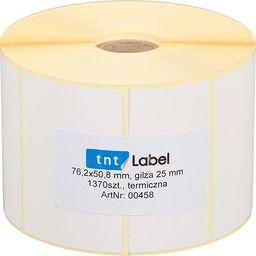 T-pack Etykiety Termiczne 76x51 1370szt Gilza 25mm Białe