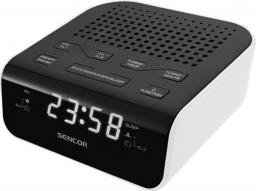 Radiobudzik Sencor SRC 136 WH Czarno-biały