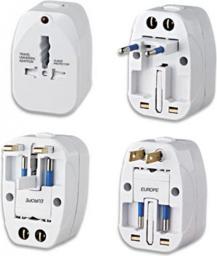 Techly Uniwersalny adapter zasilania, Europa, Ameryka, UK, Australia (300095)
