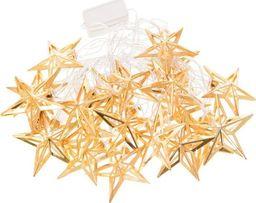 Lampki choinkowe SPRINGOS Lampki dekoracyjne 20 LED gwiazdki biały ciepły UNIWERSALNY