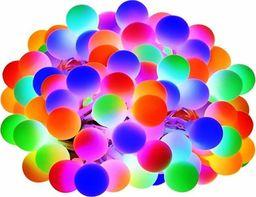 Lampki choinkowe SPRINGOS Lampki dekoracyjne 20 LED kulki multikolor UNIWERSALNY
