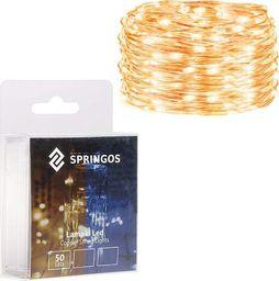 Lampki choinkowe SPRINGOS Lampki choinkowe 50 LED druciki mikro na baterie UNIWERSALNY