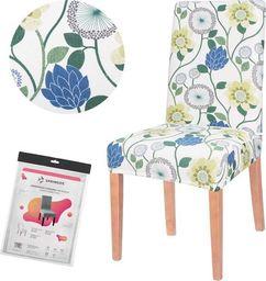 SPRINGOS Pokrowiec na krzesło uniwersalny jasne kwiaty UNIWERSALNY