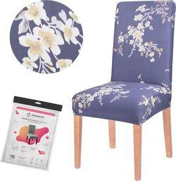 SPRINGOS Pokrowiec na krzesło uniwersalny kwiaty UNIWERSALNY